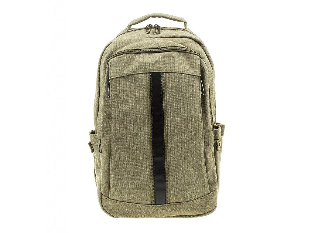 Velký pánský batoh ze silné tkaniny Gil Bags 3002 09 zelený khaki (4)