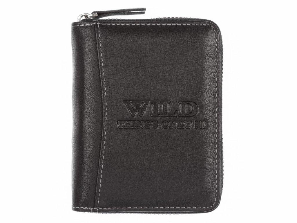 Pánská kožená peněženka na zip Wild černá 5508 ModexaStyl (2)