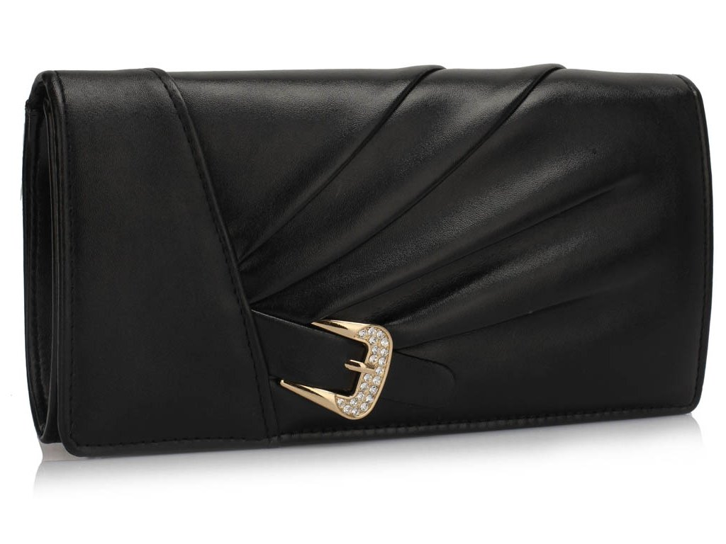 Večerní kožená kabelka psaníčko LSE304 černá ModexaStyl (2)
