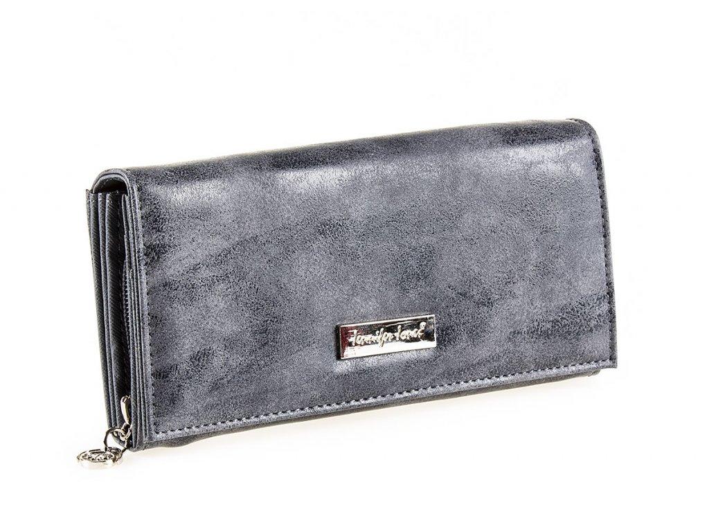 Dámská kožená peněženka červená Jennifer Jones 1109 7 šedá ModexaStyl (2)