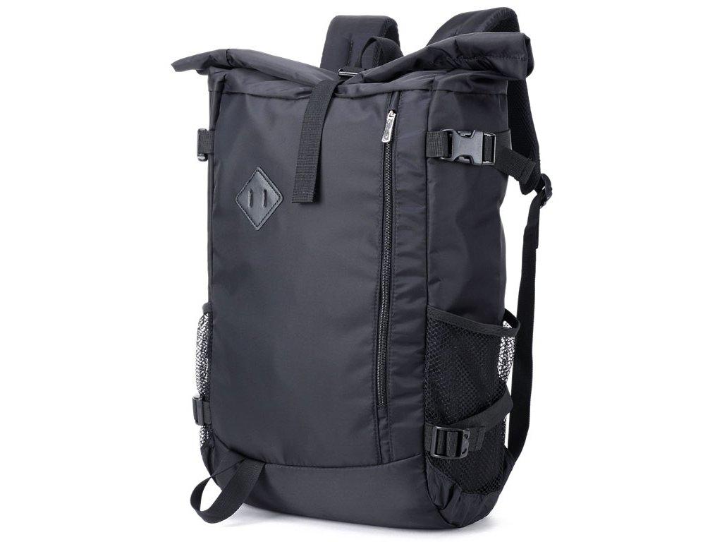 Batoh Roll Top unisex 1011 GIL BAGS černý ModexaStyl (2)