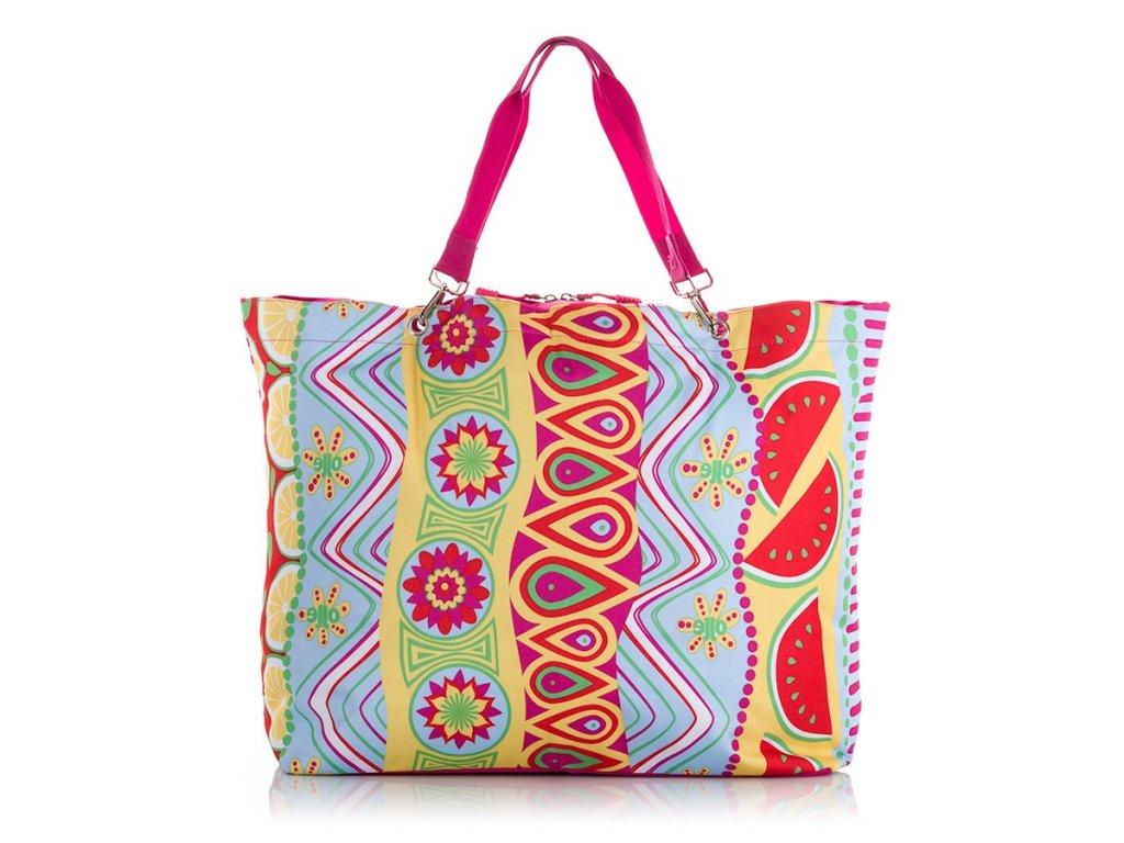 Velká letní plážová taška 2206 Jennifer Jones barevná ModexaStyl barevná (1)