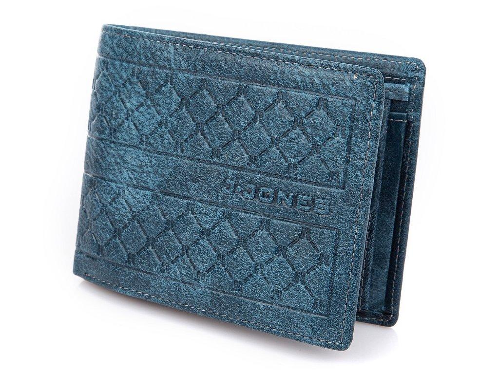 Pánská kožená peněženka modrá J. JONES 5566 NY ModexaStyl (2)