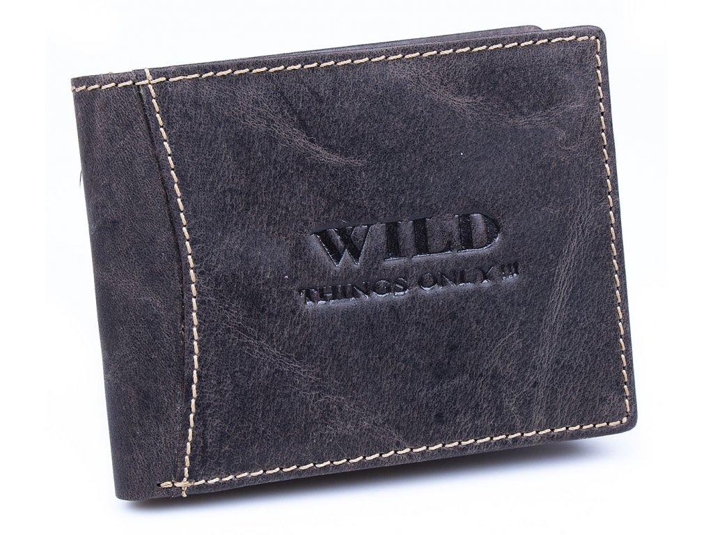 Pánská kožená peněženka Wild 5453 tmavě hnědá ModexaStyl (2)