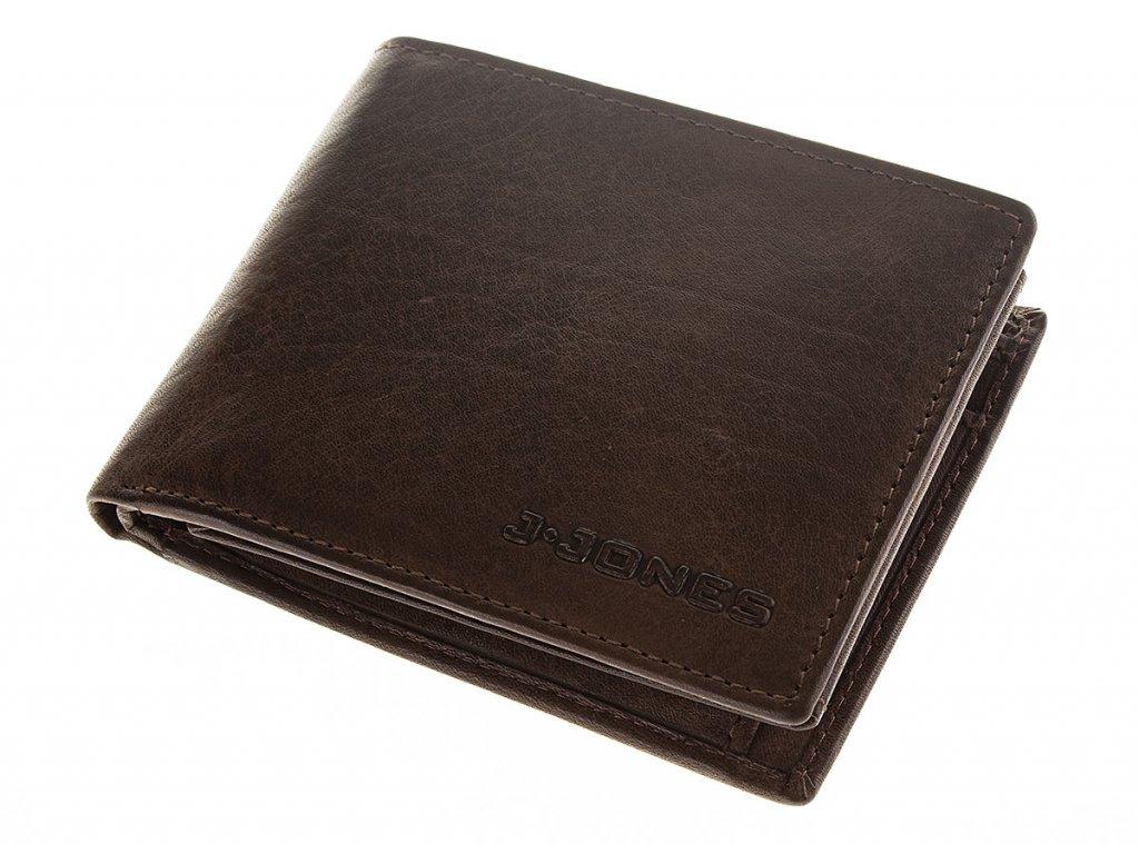 Pánská kožená peněženka hnědá J JONES 5682 ModexaStyl (1)