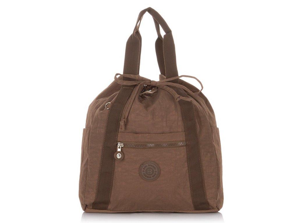 Lehký dámský batoh a kabelka Bag Street 2247 hnědý ModexaStyl (1)