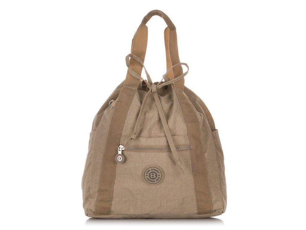 Lehký dámský batoh a kabelka Bag Street 2247 béžový ModexaStyl (1)