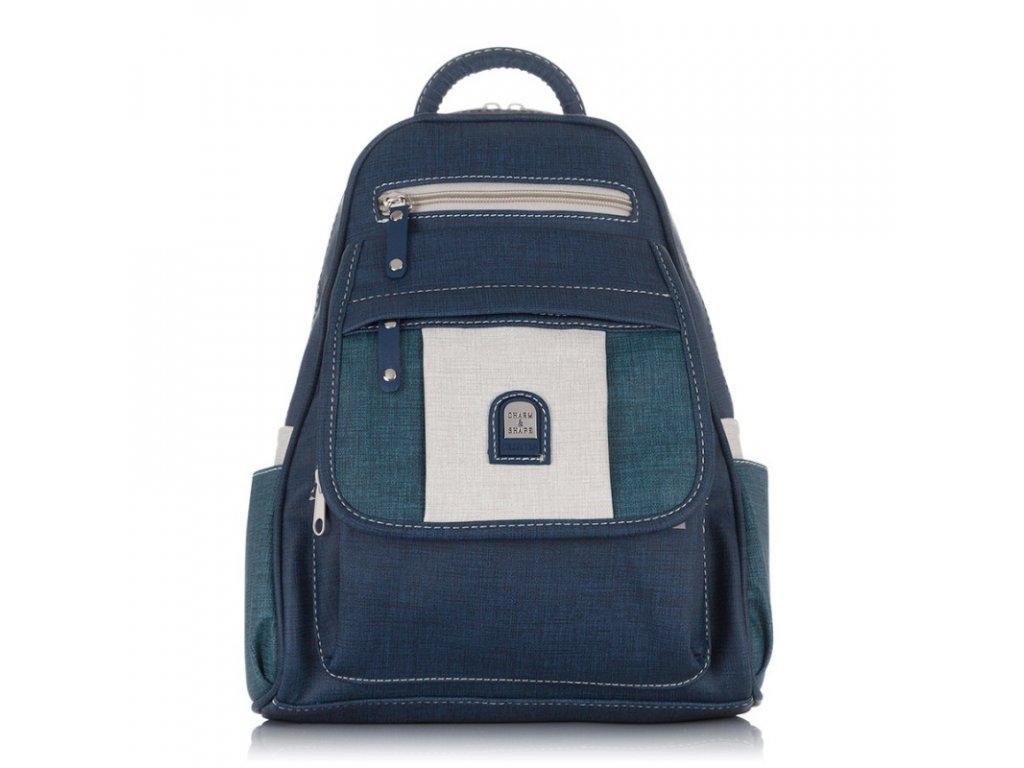 Dámský kožený batoh modrý Charm & Shape 15119 ModexaStyl (1)