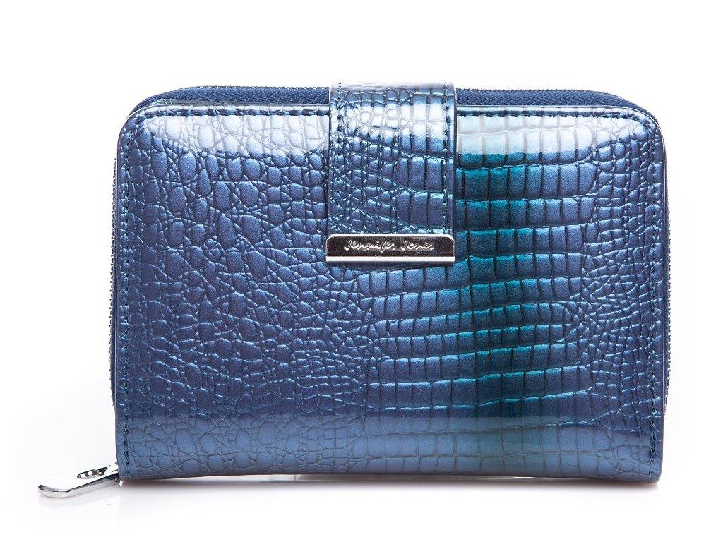 Malá dámská kožená peněženka Jennifer Jones 5198 modrá ModexaStyl (2)