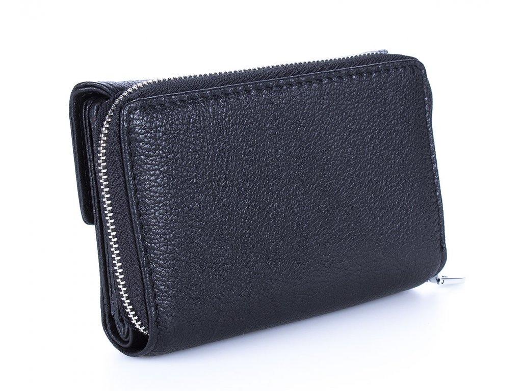 Dámská kožená peněženka Jennifer Jones 5299 ModexaStyl černá červená šedá (3)