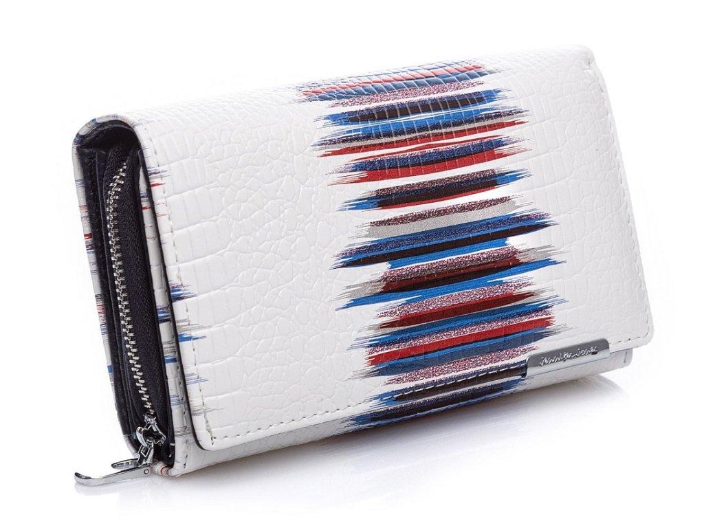 Dámská kožená peněženka Jennifer Jones 5261 bílo modrá ModexaStyl (7)