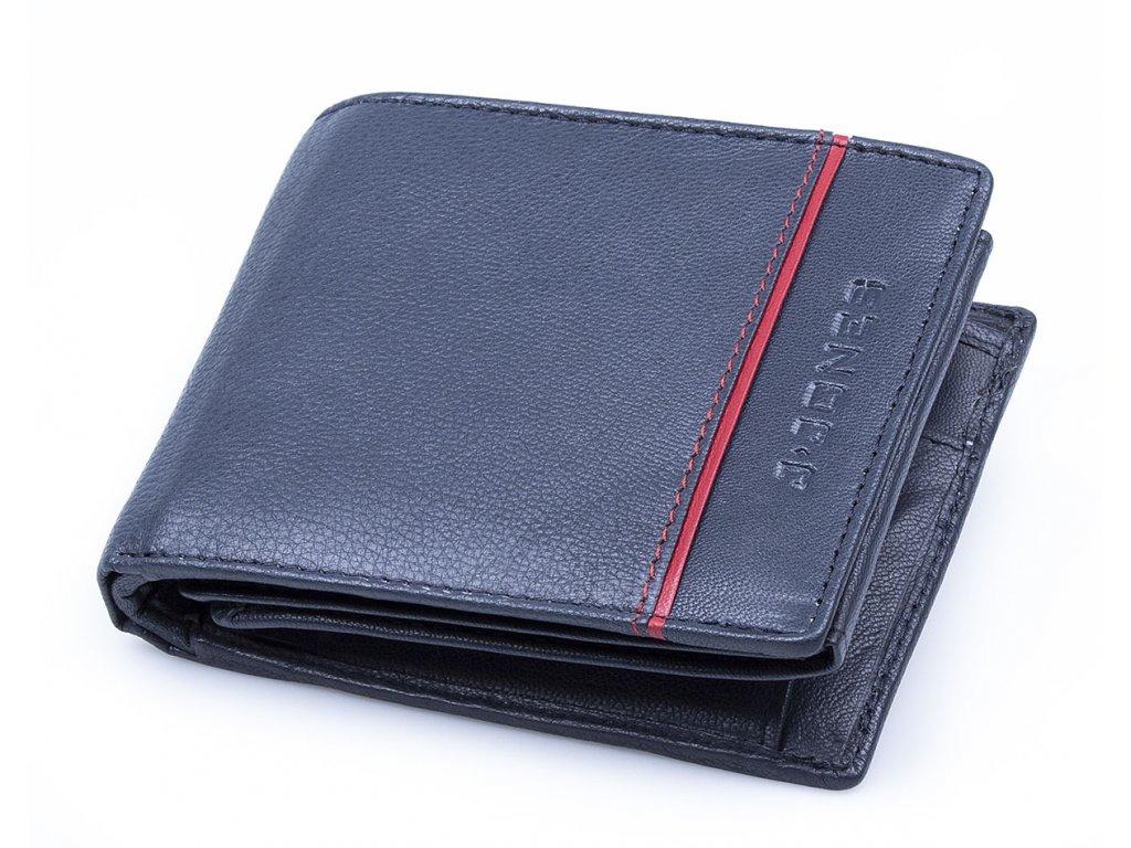 Pánská kožená peněženka modrá J Jones 55449 ModexaStyl (2)