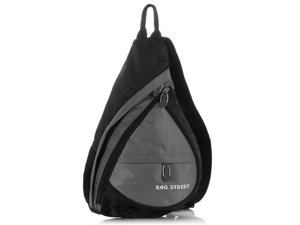 Lehký sportovní batůžek přes jedno rameno Bag Street 4388 šedý ModexaStyl (1)