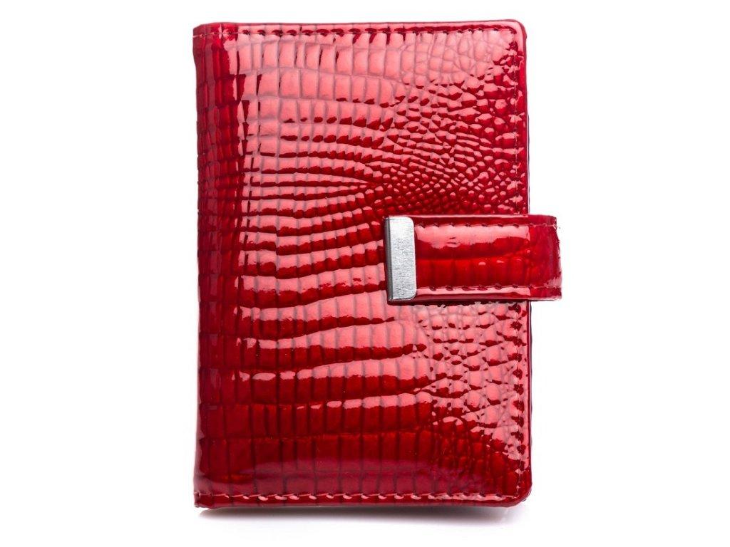 Pouzdro na doklady karty a vizitky Jennifer Jones 5244 červená ModexaStyl (2)