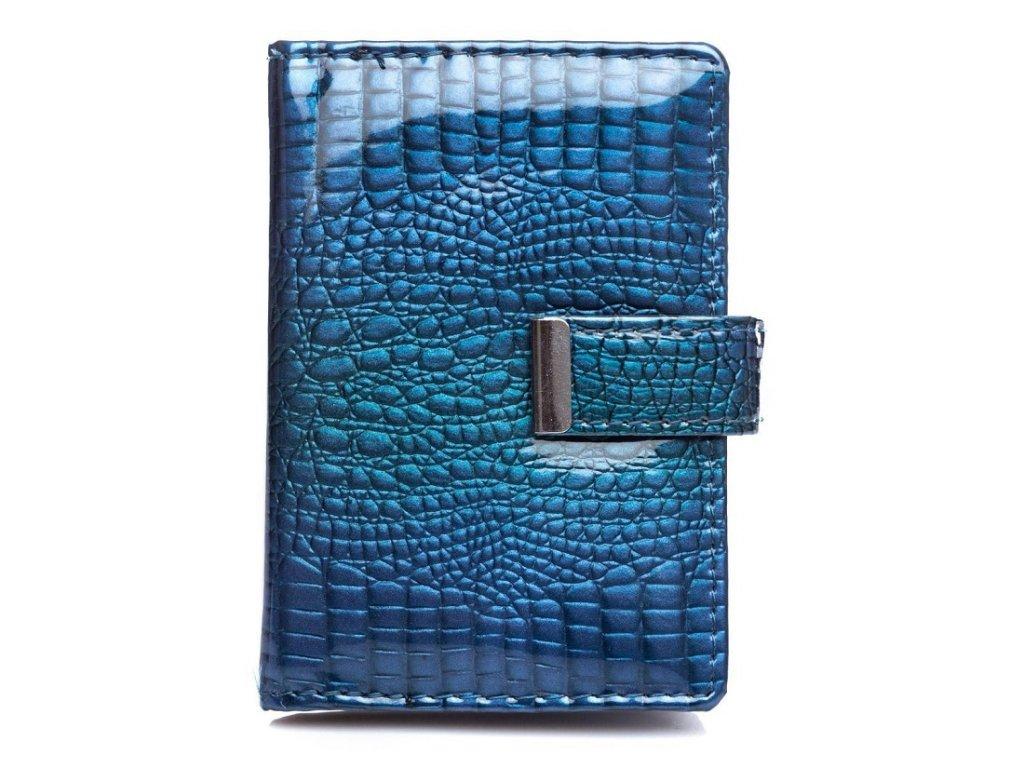 Pouzdro na doklady karty a vizitky Jennifer Jones 5244 modrá ModexaStyl (2)