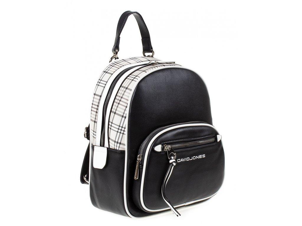 Dámský kožený batůžek 6282 2 David Jones černý ModexaStyl (4)