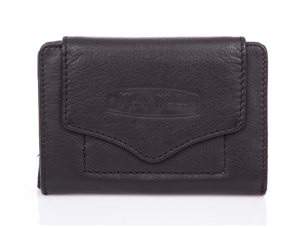 Kvalitní dámská kožená peněženka Money maker 528B černá ModexaStyl (2)