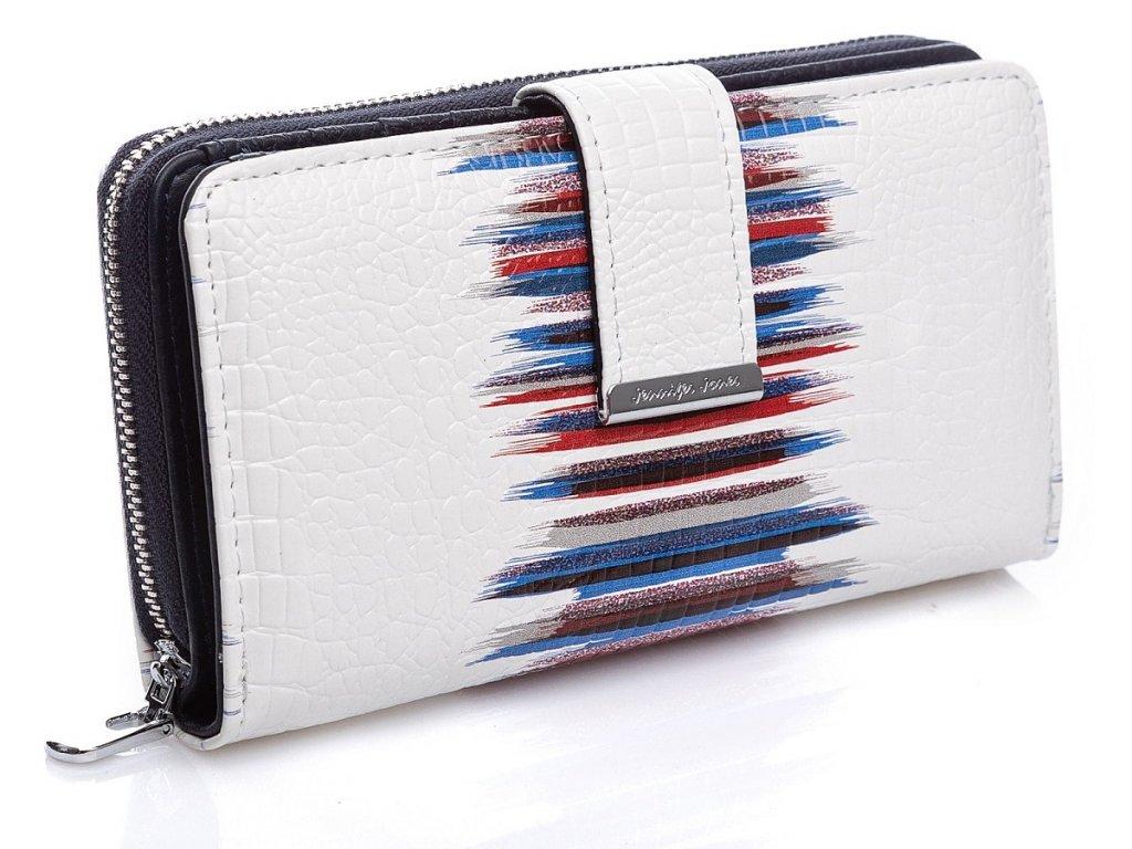 Dámská kožená peněženka Jennifer Jones 5280 bílo modrá ModexaStyl (3)