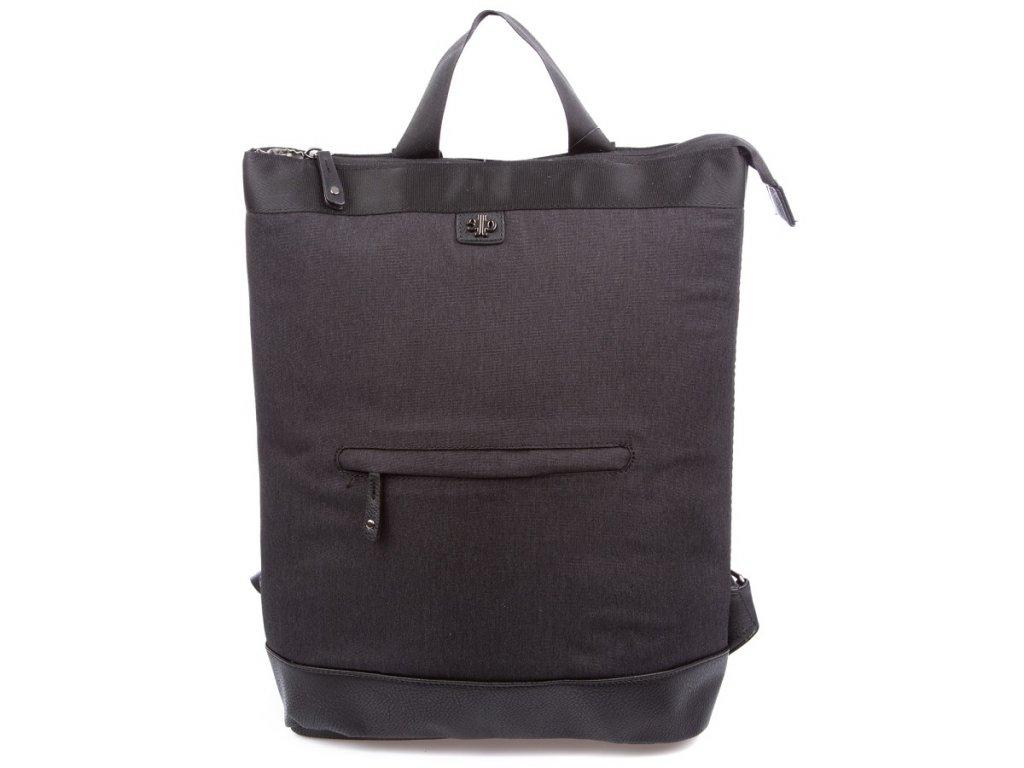 Stylový dámský městský batoh Jennifer Jones 4097 černý ModexaStyl (2)