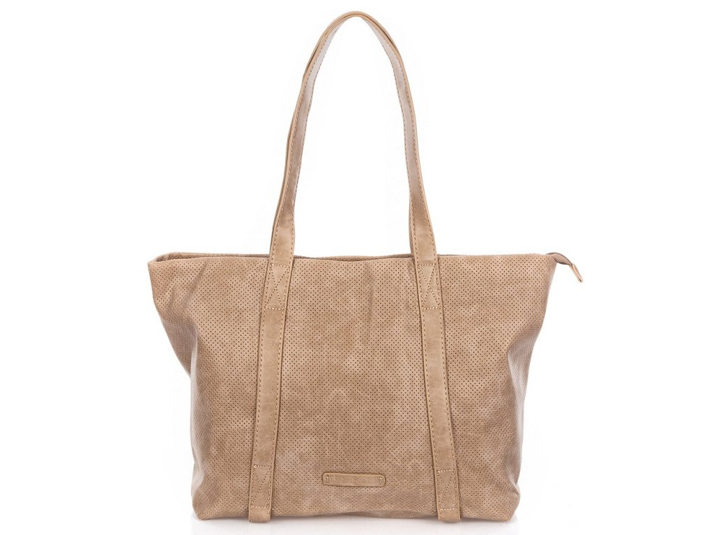 Velká kabelka do ruky a přes rameno Shopper Jennifer Jones 3456 béžová ModexaStyl (2)