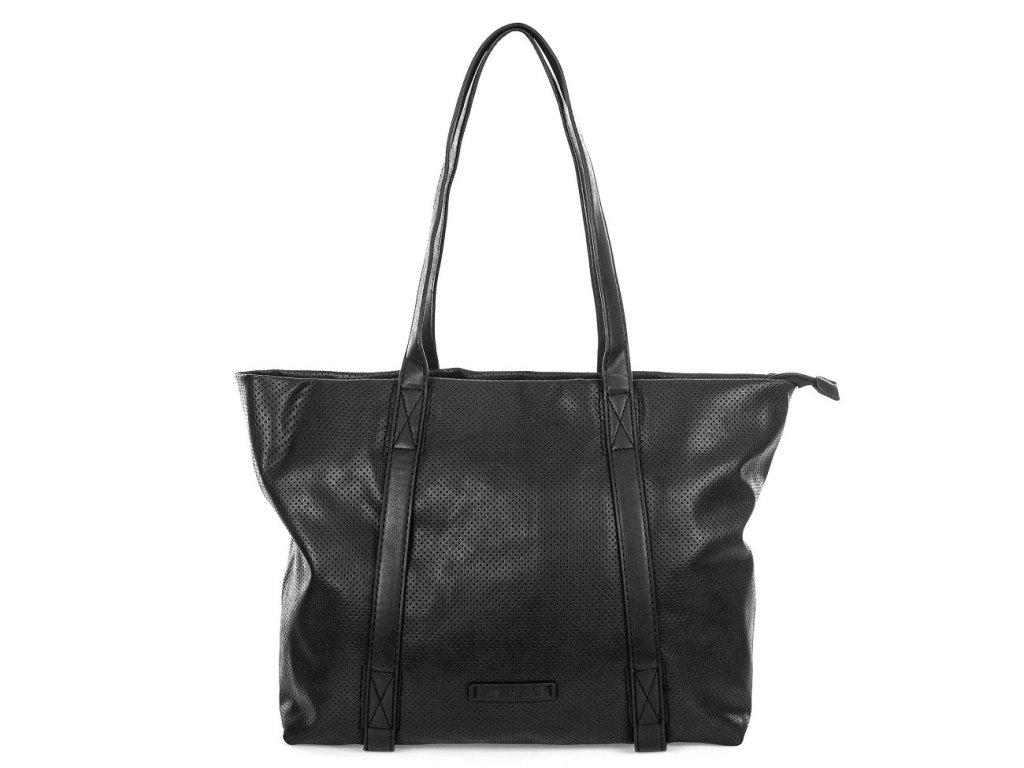 Velká kabelka do ruky a přes rameno Shopper Jennifer Jones 3456 černá ModexaStyl (8)