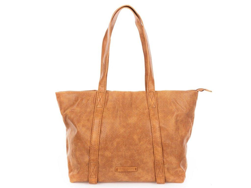 Velká kabelka do ruky a přes rameno Shopper Jennifer Jones 3456 koňaková ModexaStyl (2)