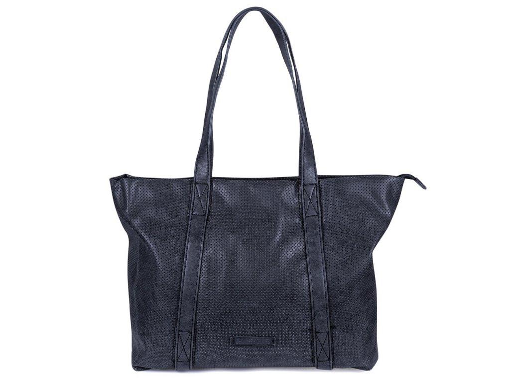 Velká kabelka do ruky a přes rameno Shopper Jennifer Jones 3456 modrá ModexaStyl (9)