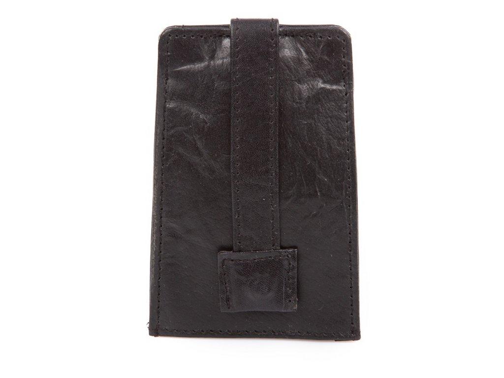 Zatahovací klíčenka z přírodní kůže Bag Street 580 černá ModexaStyl (3)