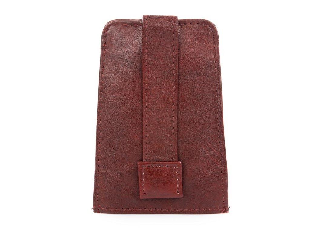 Zatahovací klíčenka z přírodní kůže Bag Street 580 čeveno hnědá ModexaStyl (3)