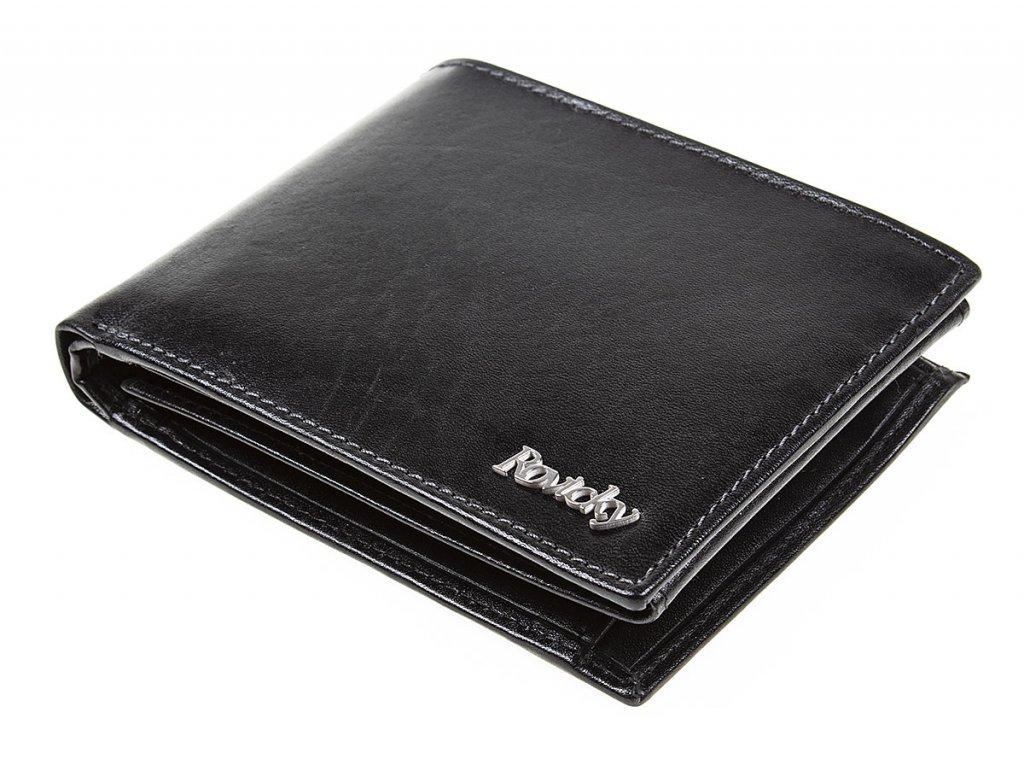 Pánská kožená peněženka černá Rovicky N992 VT R8 ModexaStyl RFID Secure (4)