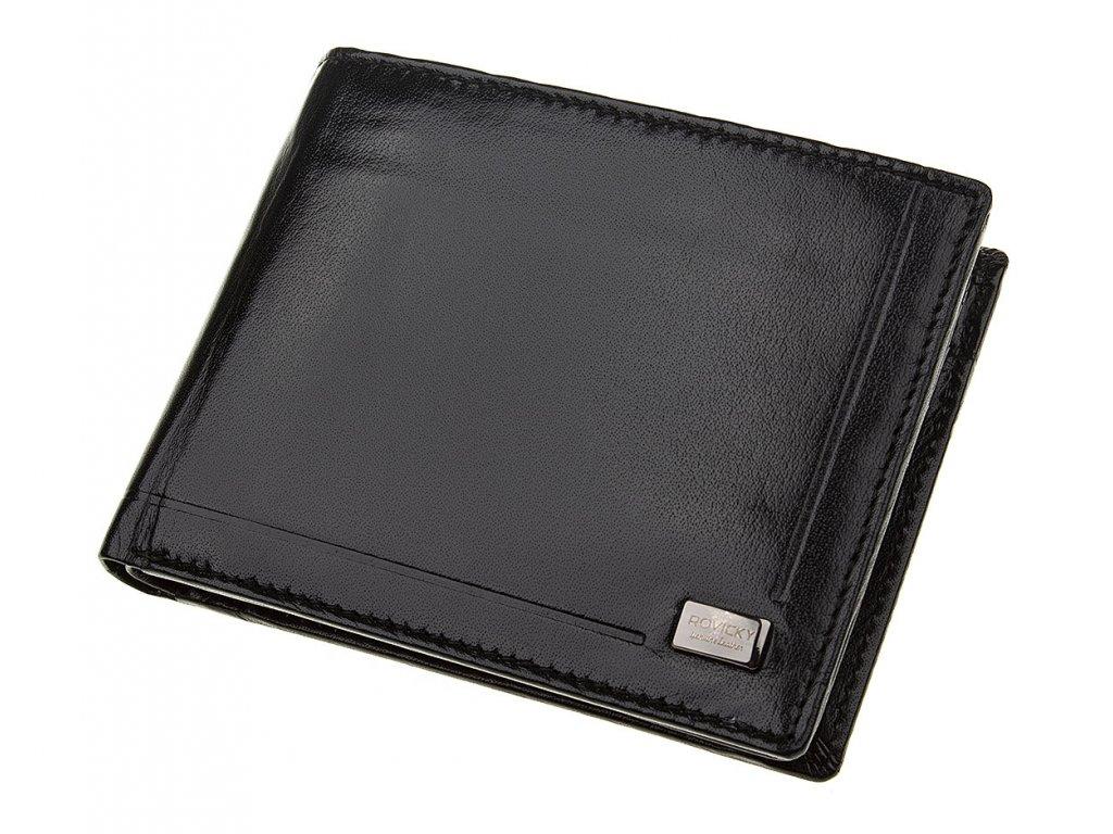 Pánská kožená peněženka Rovicky černá CPR 046 BAR ModexaStyl (3)