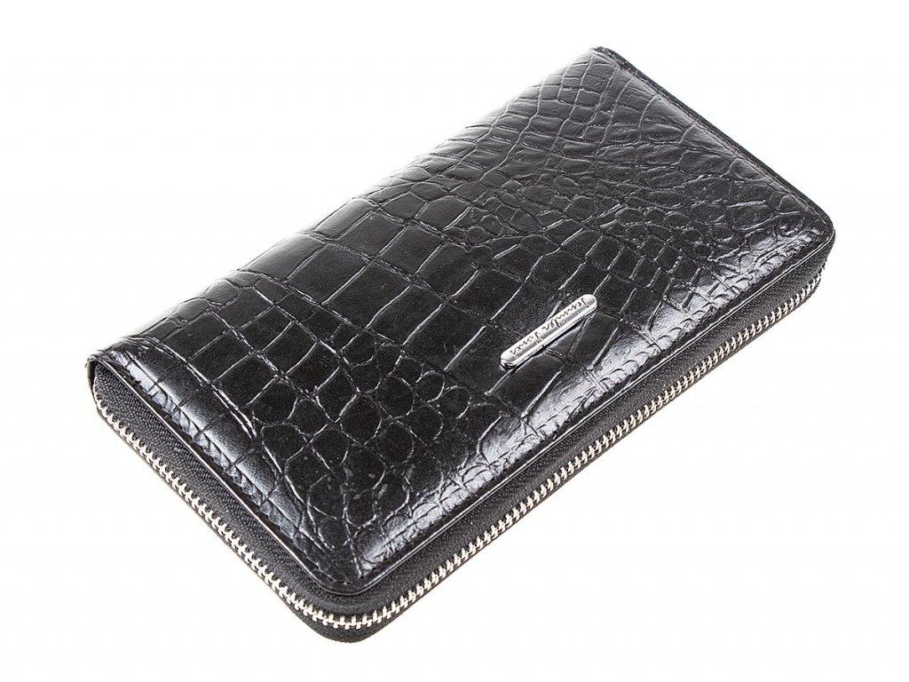 Dámská velká kožená peněženka na zip s poutkem Jennifer Jones 5295 7 černá ModexaStyl (5)