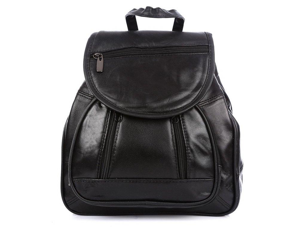 Malý dámský kožený batůžek černý Bag Street 6601 ModexaStyl (5)