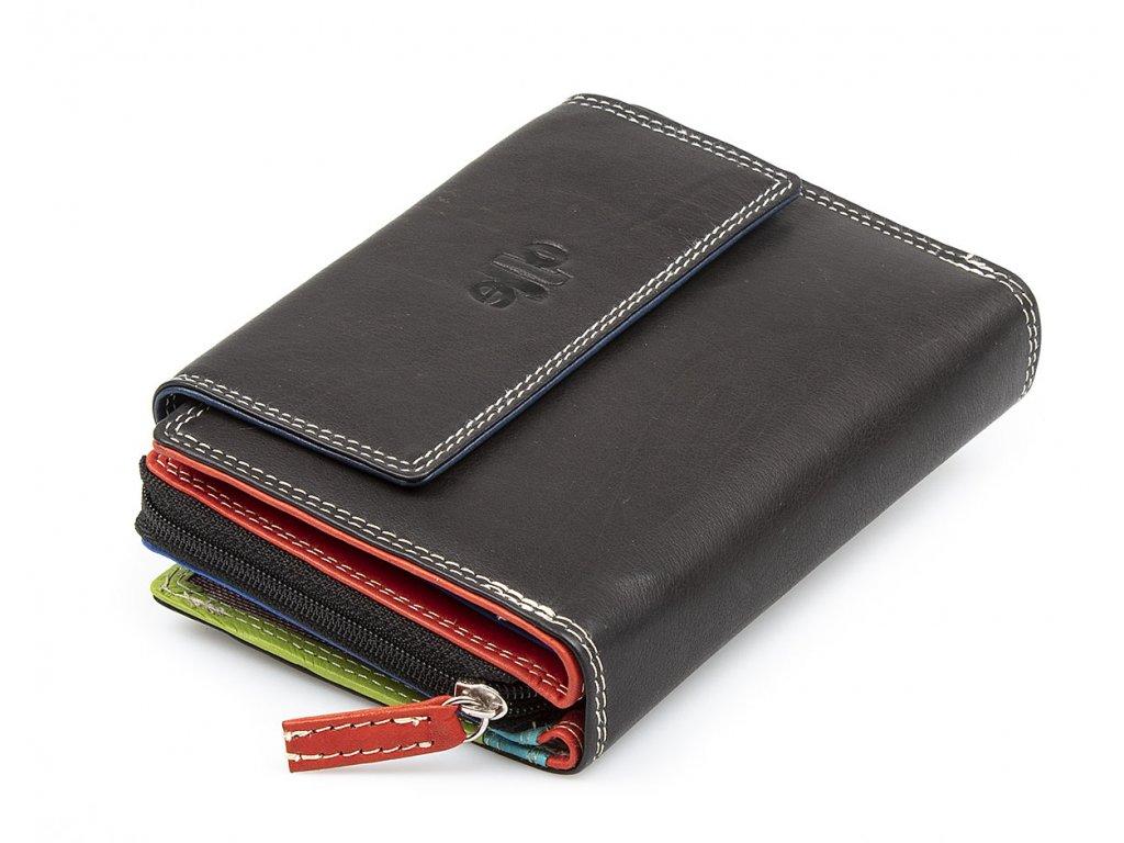 Dámská kožená peněženka Multicolor Jennifer Jones 5663 černá ModexaStyl (2)