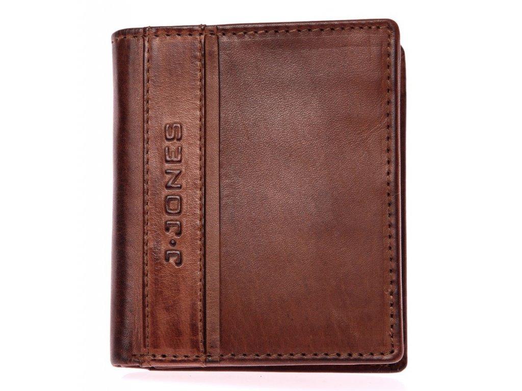 Pánská kožená peněženka hnědá J Jones 5706 ModexaStyl (2)