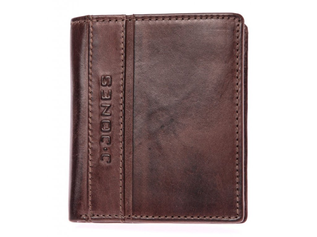 Pánská kožená peněženka hnědá tmavá J Jones 5706 ModexaStyl (2)