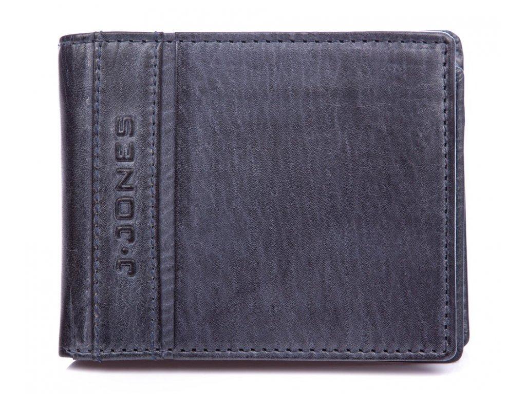 Pánská kožená peněženka modrá J Jones 5708 ModexaStyl (2)