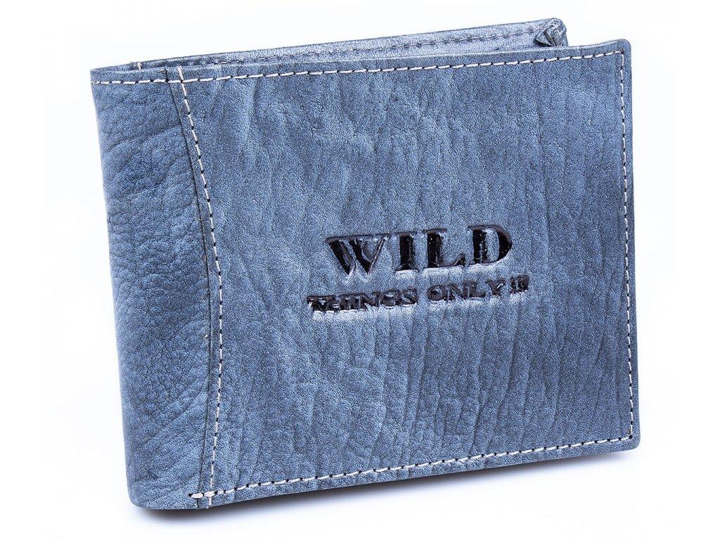 Pánská kožená peněženka Wild 5453 modrá modro šedá ModexaStyl (2)