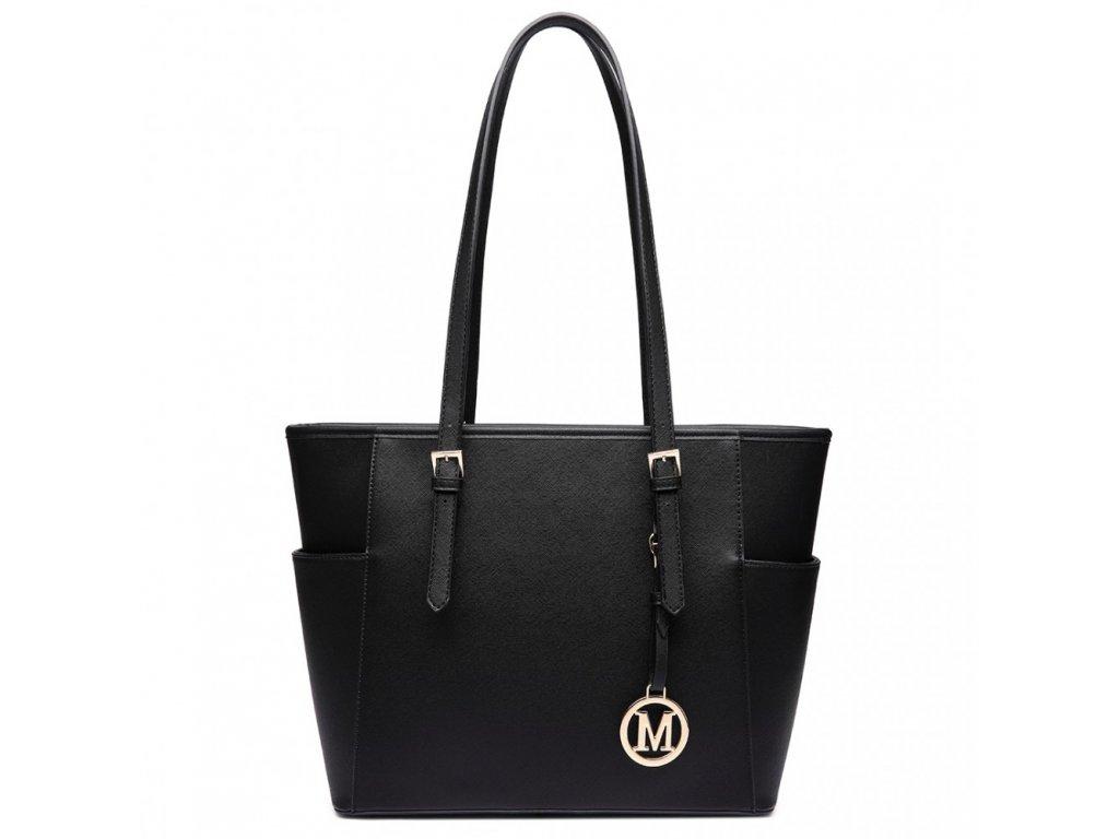 Stylová kabelka přes rameno černá Miss Lulu LM1642 ModexaStyl (2)