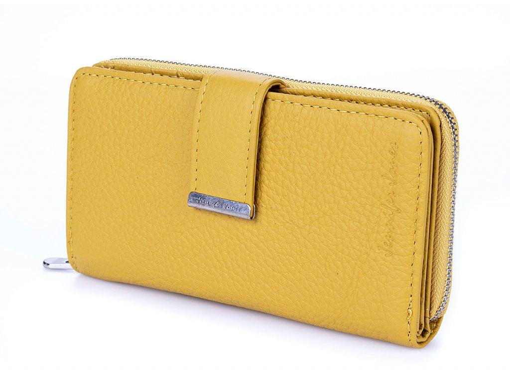 Dámská kožená peněženka žlutá Jennifer Jones 5270 YE ModexaStyl (8)