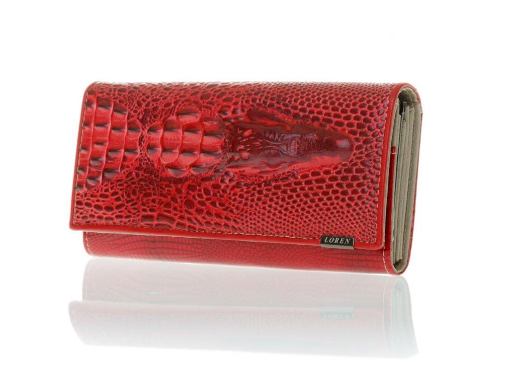 Dámská kožená peněženka 72033-CRO-RC - červená