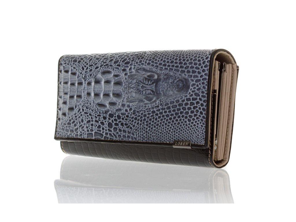 Dámská kožená peněženka 72033-CRO-RC - černá