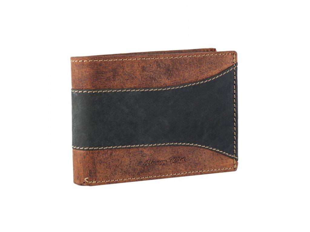 pánská kožená peněženka Wild N992 SAF Black Brown (3)