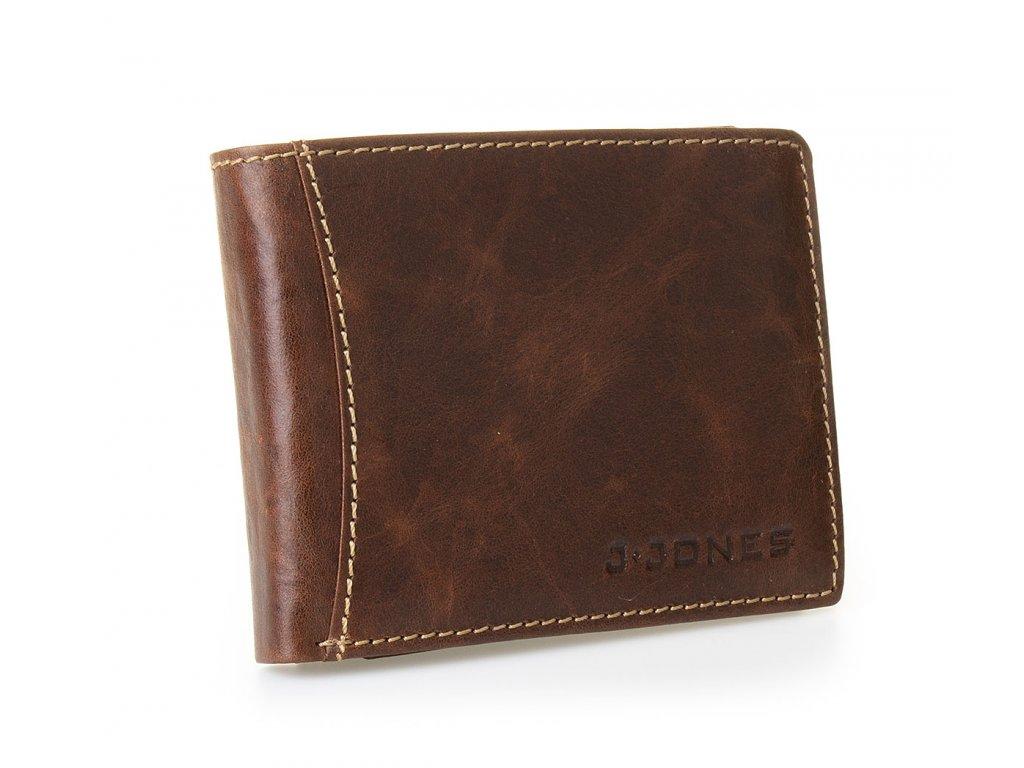 Pánská kožená peněženka 5463 hnědá J JONES (4)