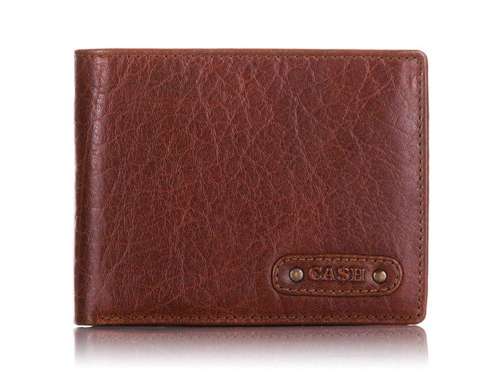 Pánská kožená peněženka 5649 hnědá CASH