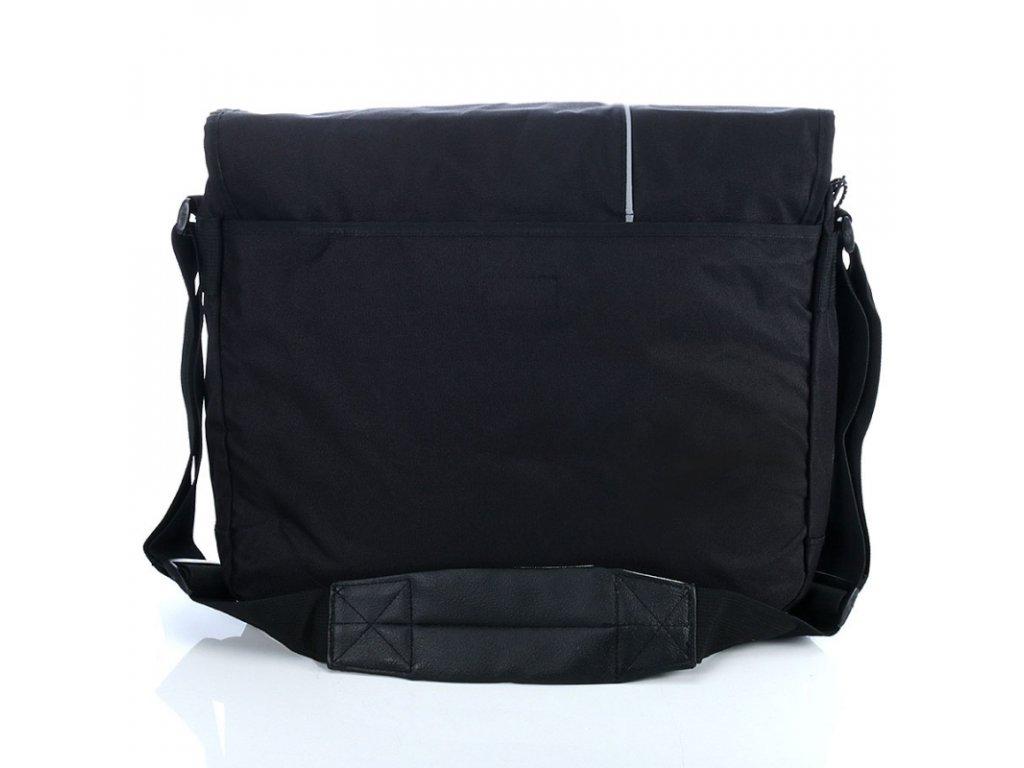 e841ae1469 Pánská taška přes rameno s kapsou na notebook 4016 - černá ...