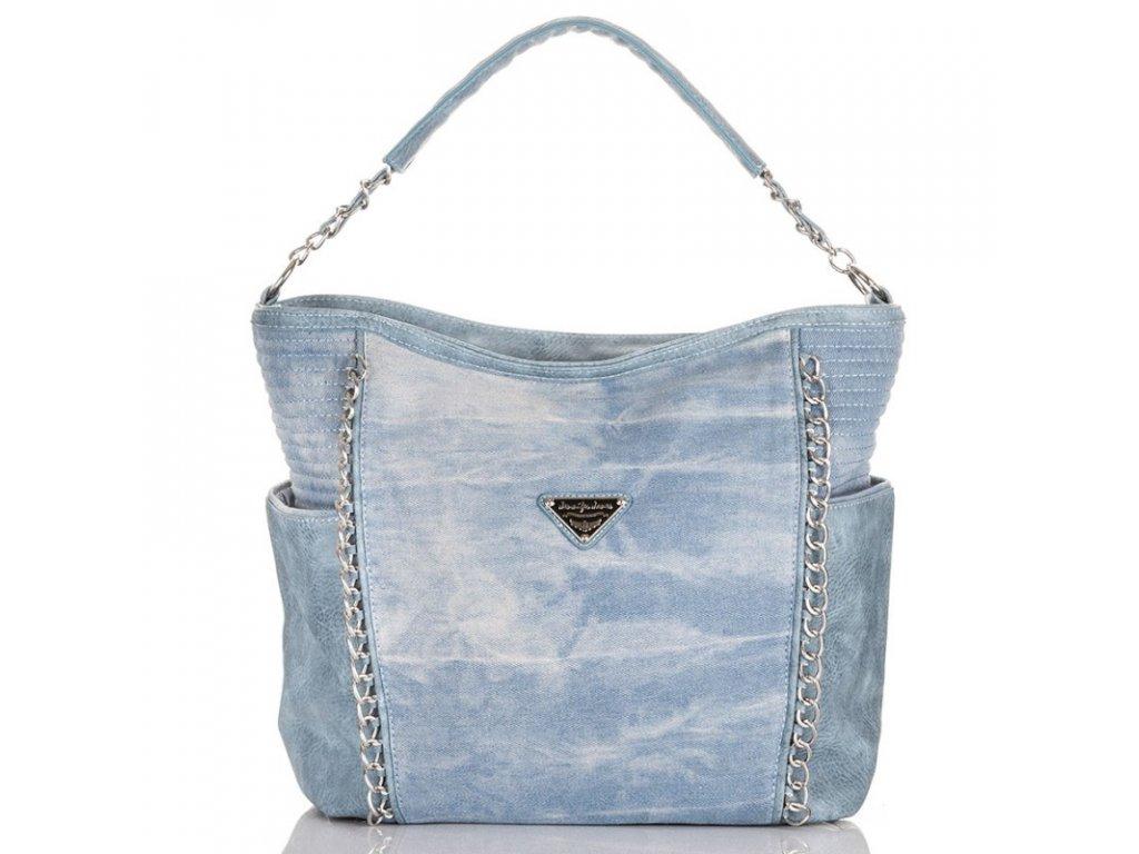 Velká riflová kabelka Jennifer Jones 4533 světle modrá