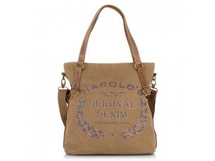 Prostorná shopper kabelka 4540 - hnědá natur