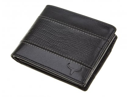 Pánská kožená peněženka Buffalo Wild černá N992 VTC BK ModexaStyl (3)