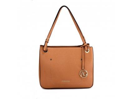 Elegantní kabelka přes rameno a do ruky Anna Grace AG00570 hnědá